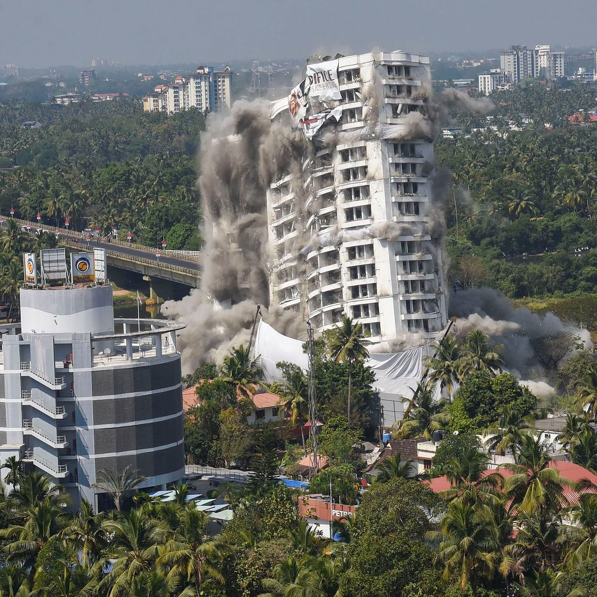Illegal Apartment Complex In Kerala Brought Down