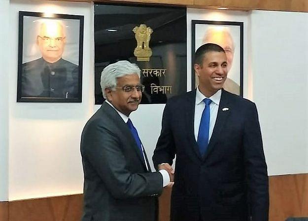 U.S. FCC Chairman Meets India's Telecom Secretary To Discuss 5G, Spectrum Issues