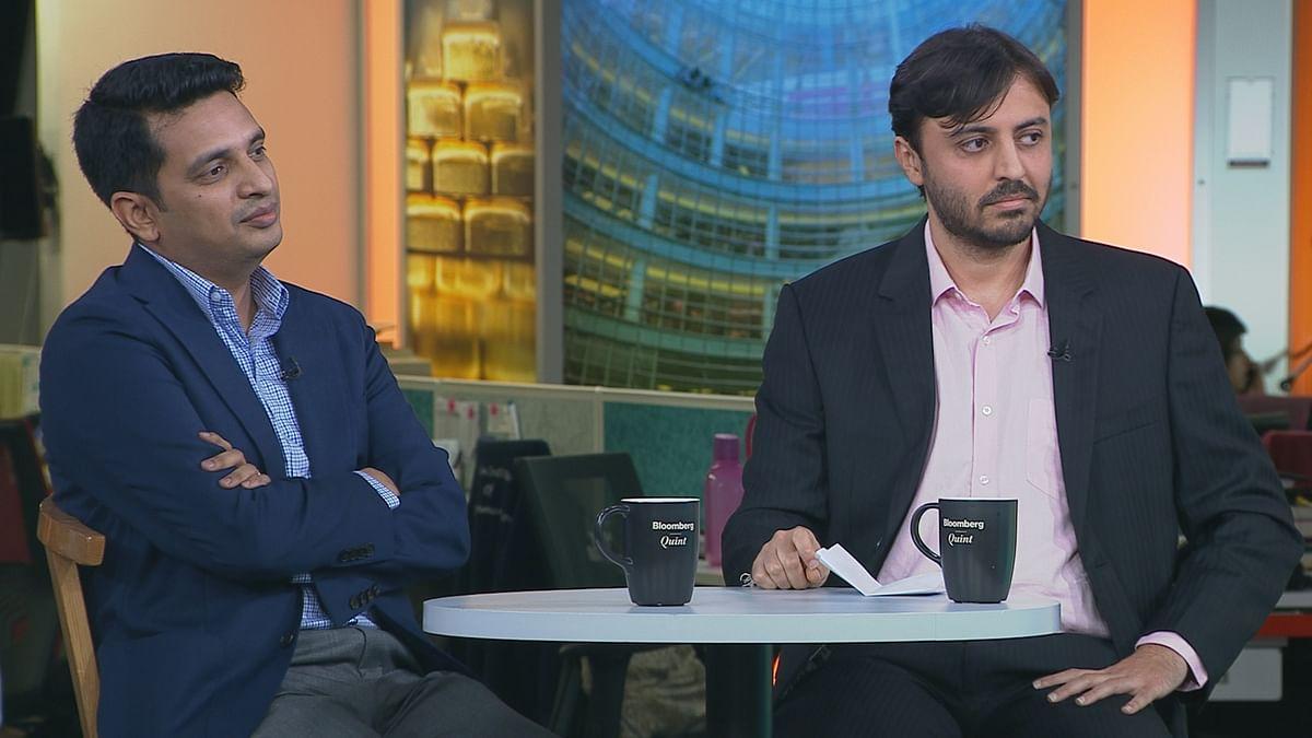 Toppr's Zishaan Hayath (left) and Sachin Parikh of Nykaa. (Image: BloombergQuint)