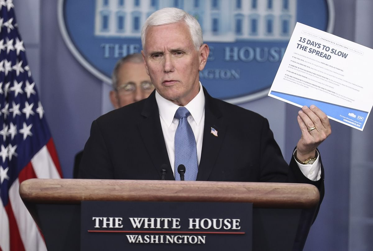 Pence Aide Says No Evidence for Worst-Case Virus Projections