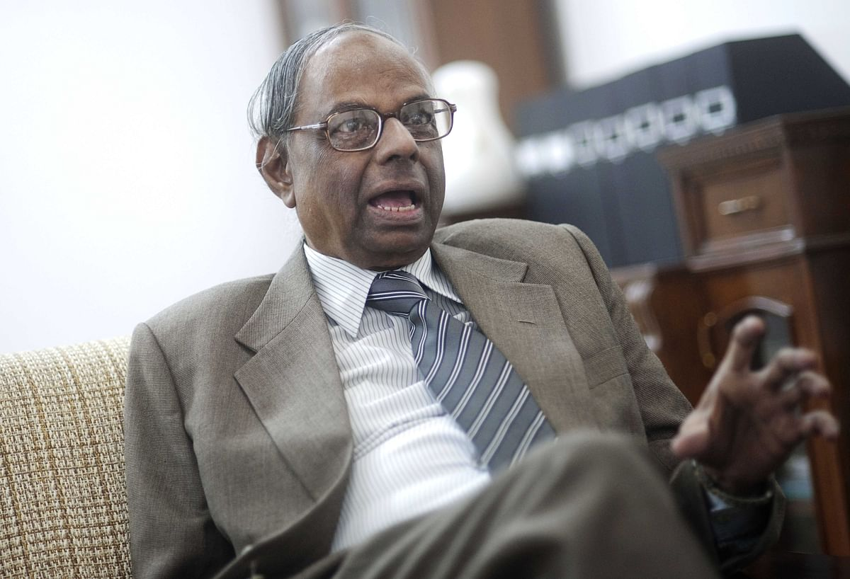 C Rangarajan, speaks during an interview, in New Delhi, on Feb. 9, 2010. (Photographer: Keith Bedford/Bloomberg)