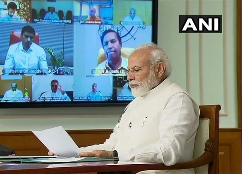 PM Modi Interacts With Floor Leaders Of Political Parties On Coronavirus