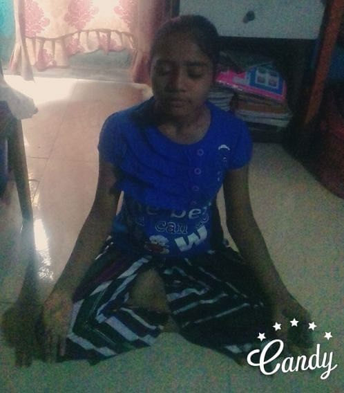 Anjali Sahu practicing meditation at her home (Source: Pooja Sankhe)