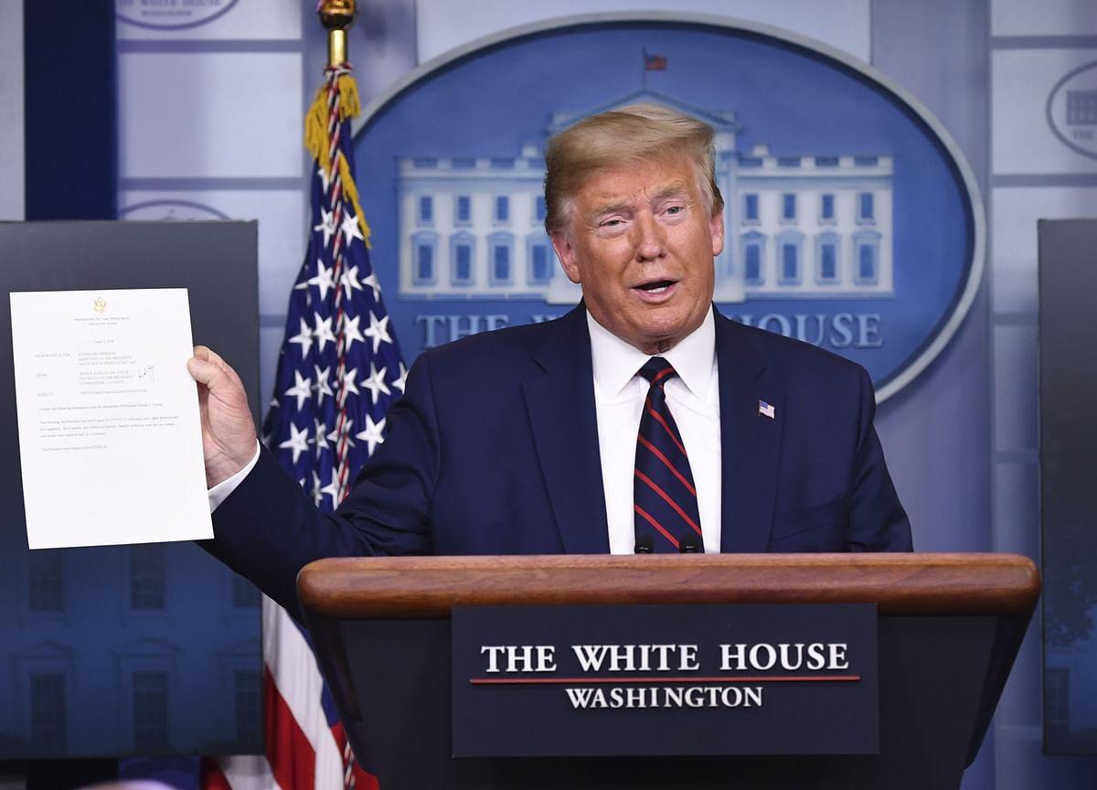 Trump Negative for Coronavirus in Test Administered on Thursday