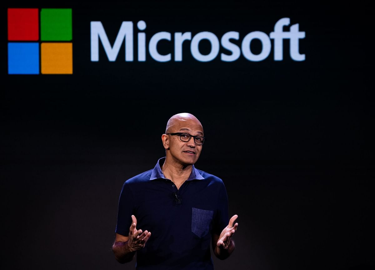 Microsoft CEO's Take on Tech's Clout: `Big by Itself Is Not Bad'
