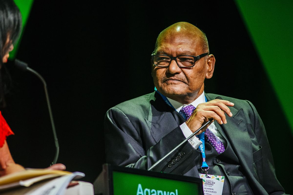 Anil Agarwal of Vedanta Resources looks on during a panel discussion in Cape Town, South Africa. (Photographer: Waldo Swiegers/Bloomberg)
