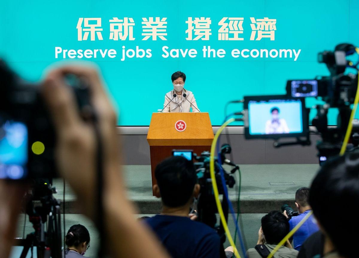 Hong Kong's Lam Denies Political Aim in Extending Crowd Ban