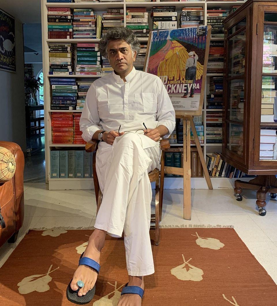 Aakar Patel, at his residence in Bengaluru. (Photograph: Priya Ramani)