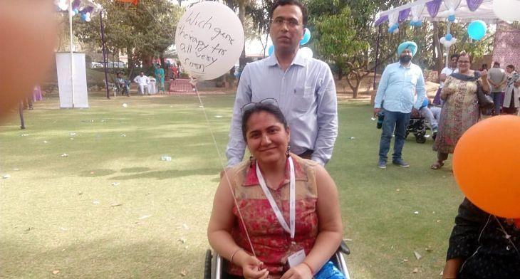Gitika Khanna and her husband at a public event. (Source: Gitika Khanna via IndiaSpend)