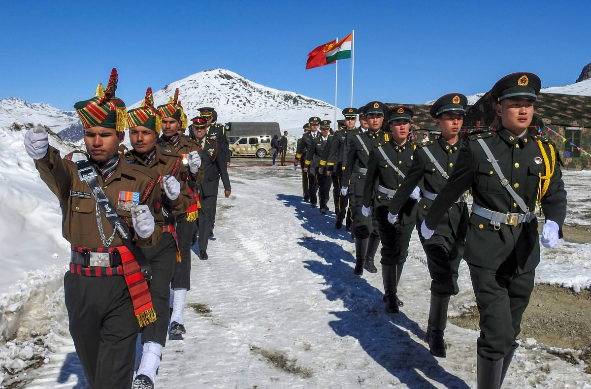 A file photo of Indian and Chinese soldiers along the Indo-China border in Arunachal Pradesh. (Photograph: PTI)