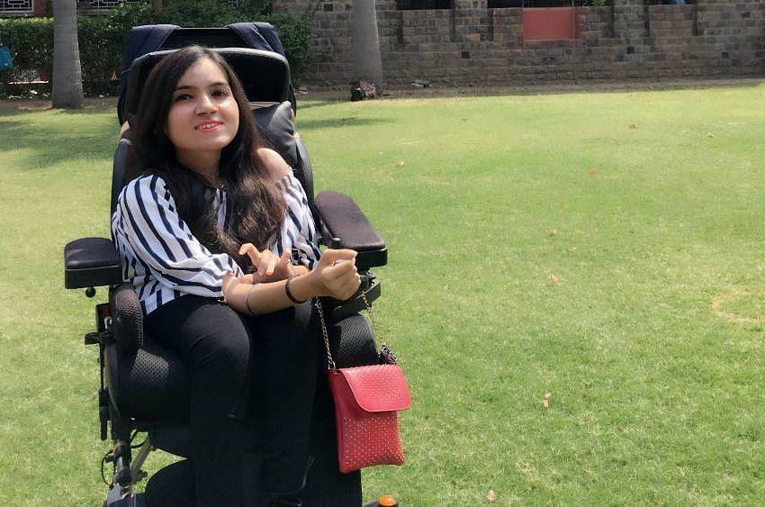 Tanvi Vij has spinal muscular atrophy and cannot move without assistance. (Tanvi Vij via IndiaSpend)