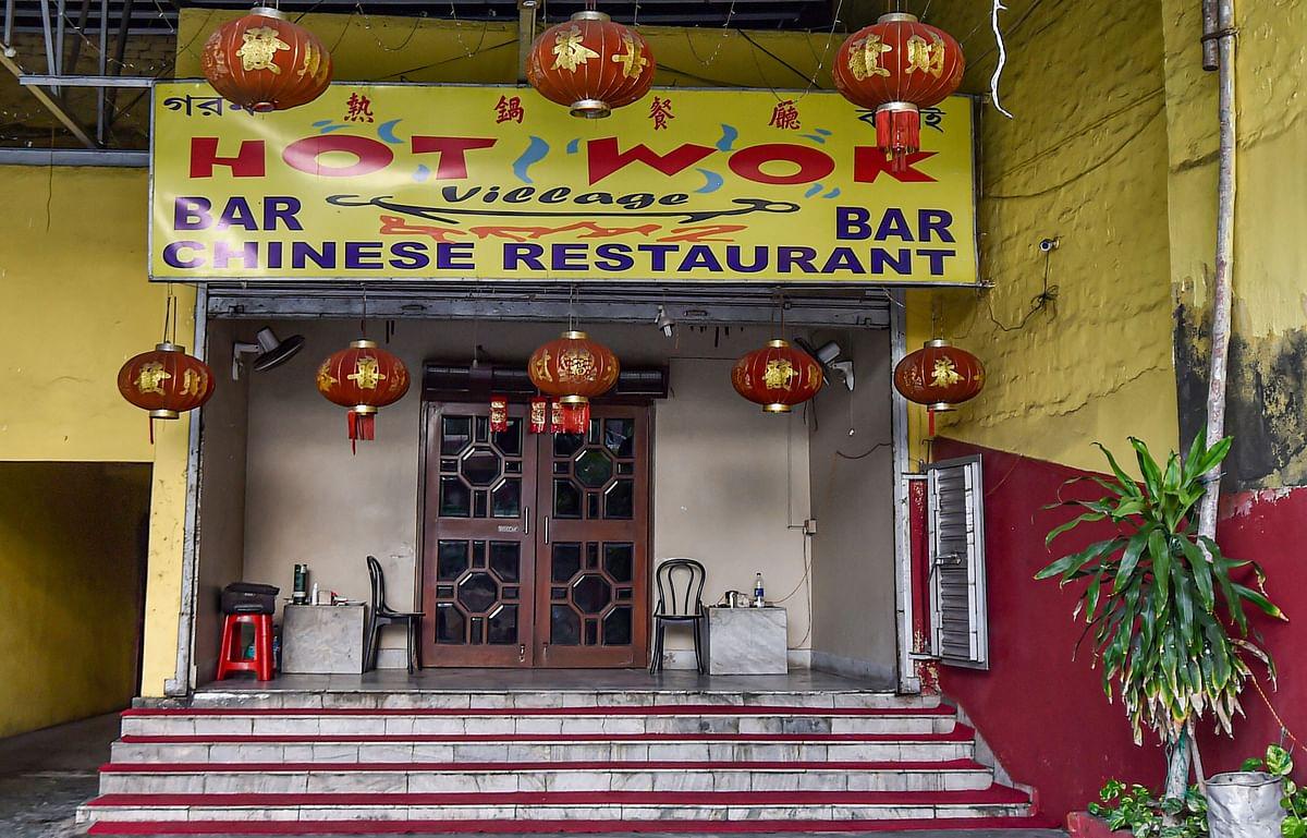 A view of a Chinese restaurant, at Chinatown in Kolkata, on June 19, 2020. (Photographer: Swapan Mahapatra/PTI)