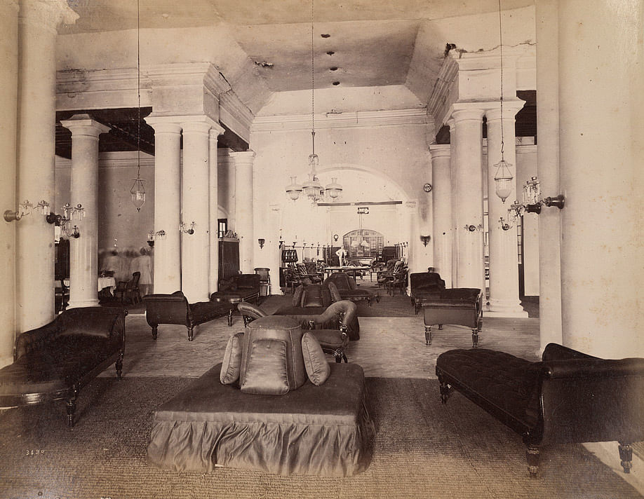 Secunderabad Club interiors, on Dec. 31, 1890. (Image: British Library)