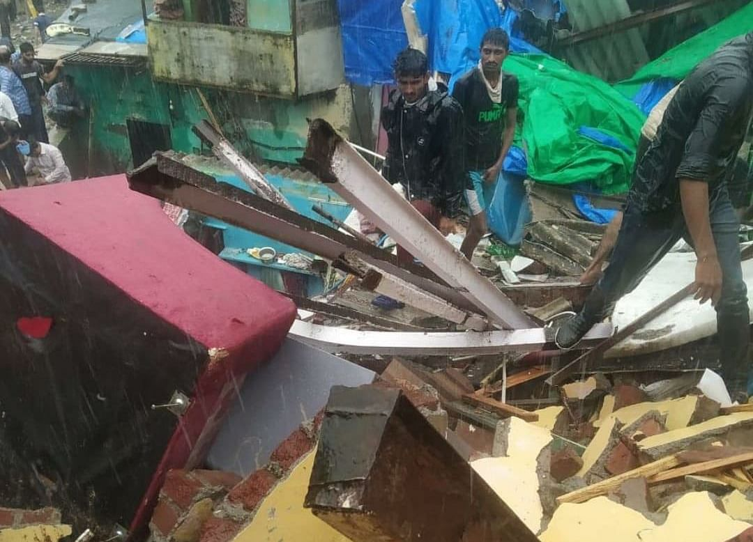 Two Buildings Collapse In Mumbai After Heavy Rains, 4 Dead
