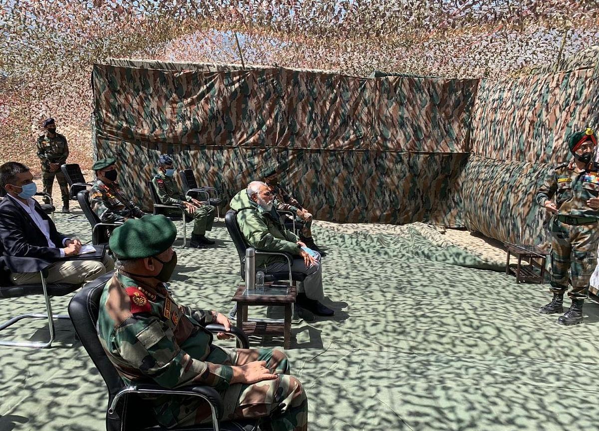 Prime Minister Modi Commends Army's Bravery In Surprise Ladakh Visit