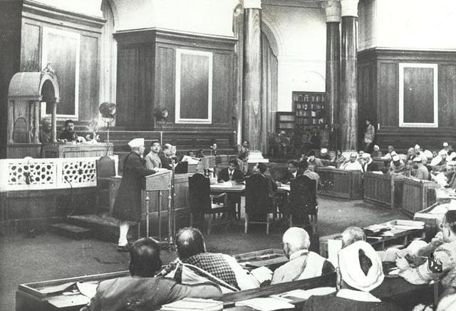 the Constituent Assembly of India, on Dec.10, 1946. (Photograph: NMML/Government of India)