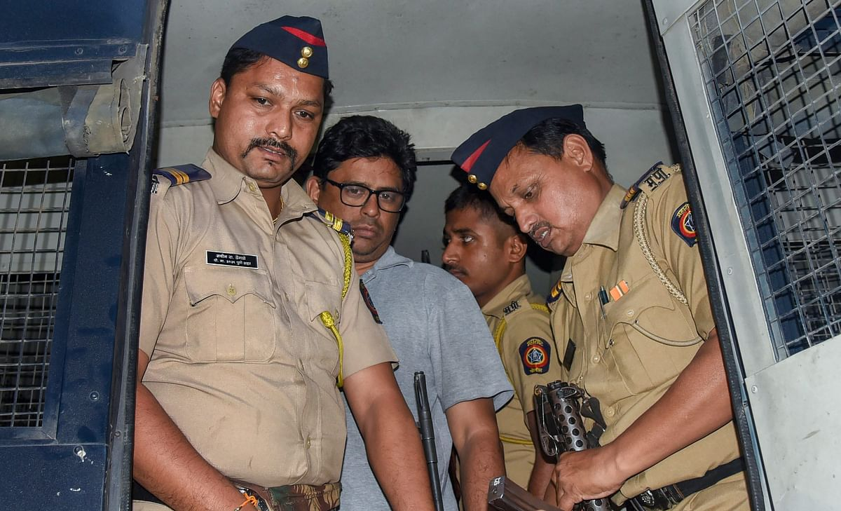 Arun Ferreira brought back to his residence, in Thane, on Aug. 30, 2018. (Photograph: PTI)