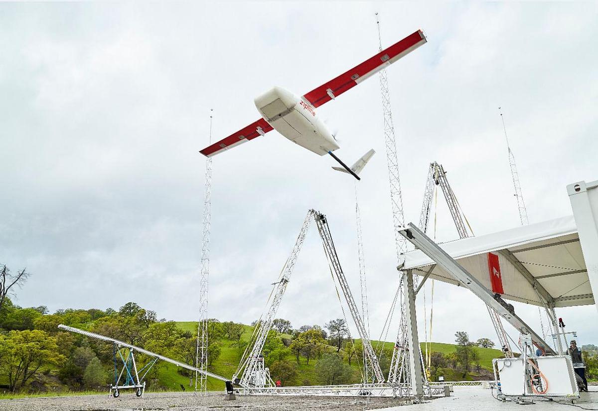 A Zipline drone. (Source: Zipline/ Medikabazaar)