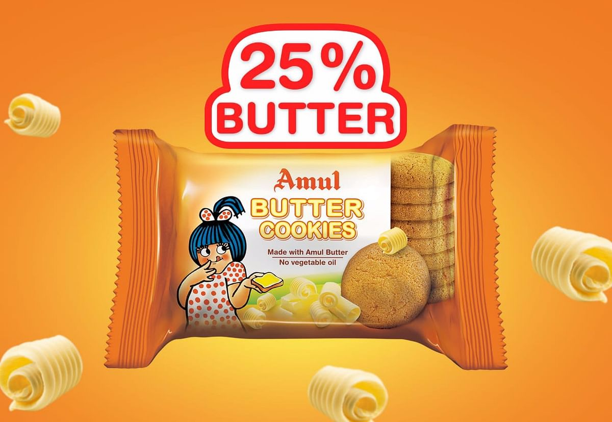 Amul's butter cookie. (Source: Amul's Twitter account)