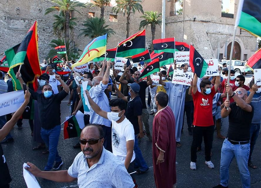 Libya's Capital Under 24-Hour Curfew as Youth-Led Protests Mount
