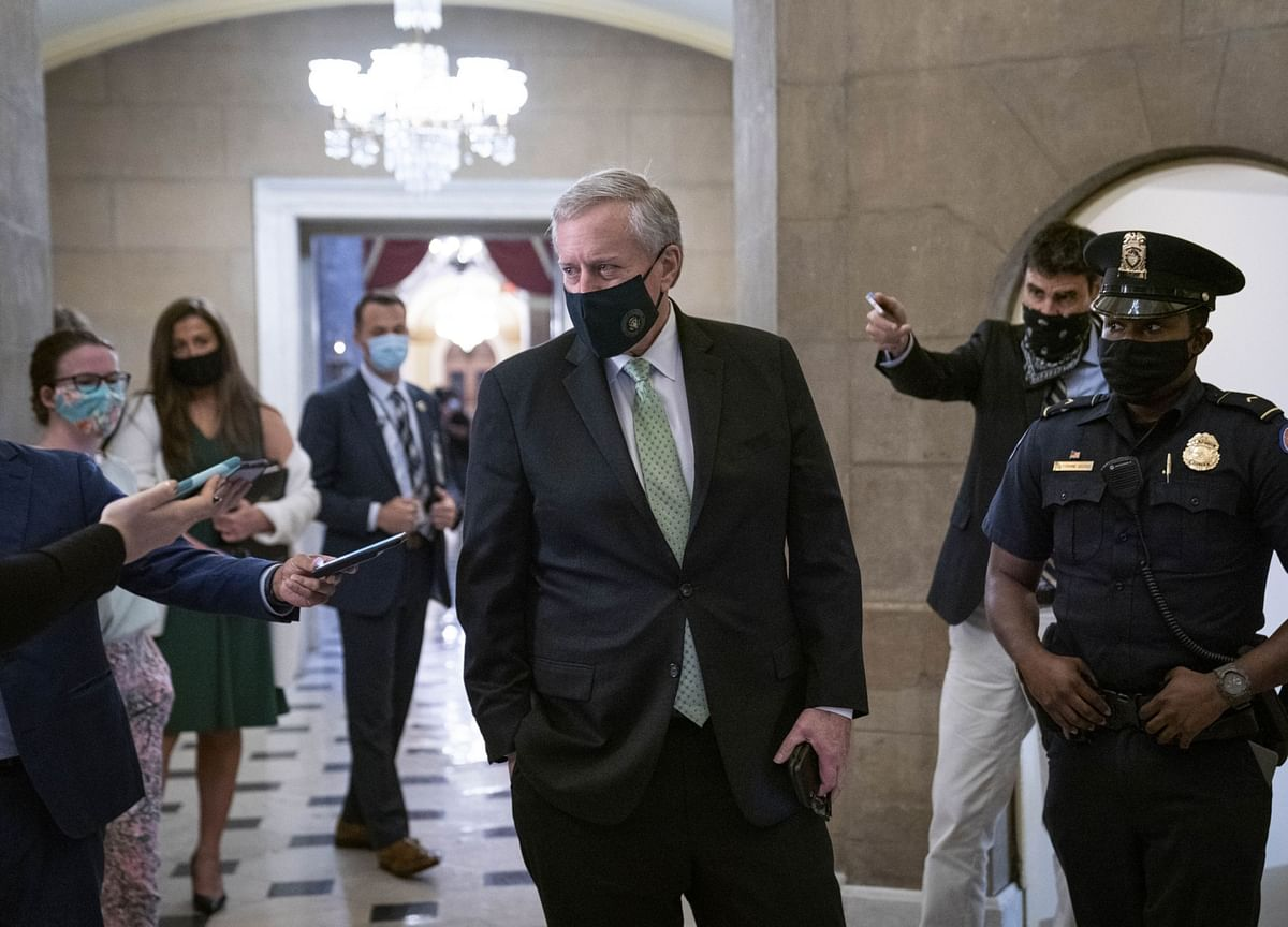 Mark Meadows Back in White House After Coronavirus Diagnosis