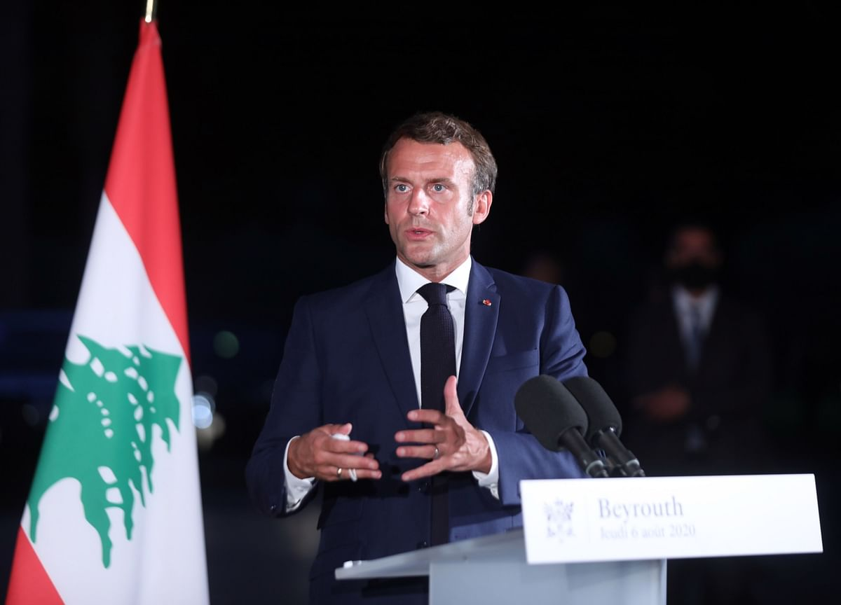 Macron Wins Acclaim in Beirut That He Doesn't Get at Home