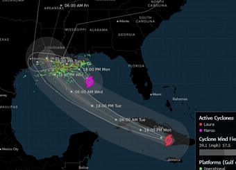 Hurricane Laura Strengthening Rapidly to Category 4 Storm