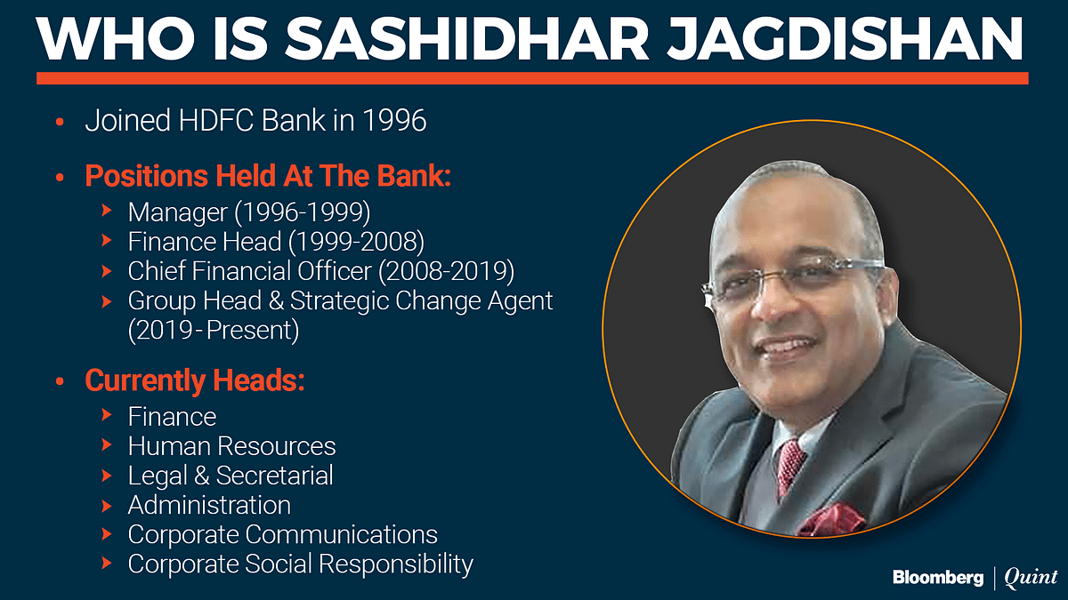 'Change Agent' To CEO: Sashidhar Jagdishan Set To Bring Continuity To HDFC Bank