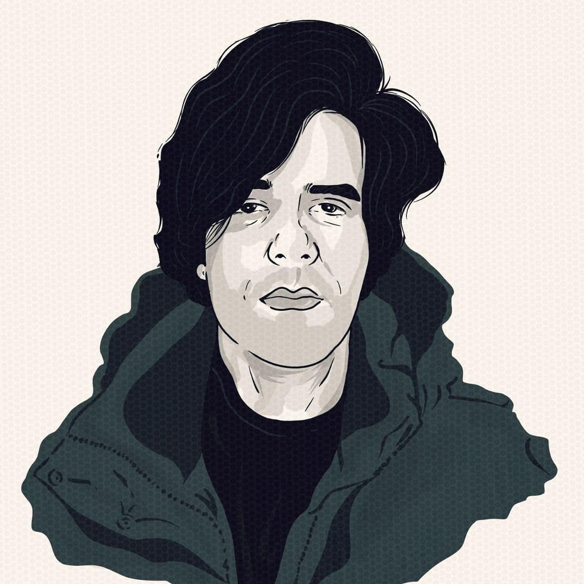 Mir Suhail made this illustration of himself. (Image: Mir Suhail)
