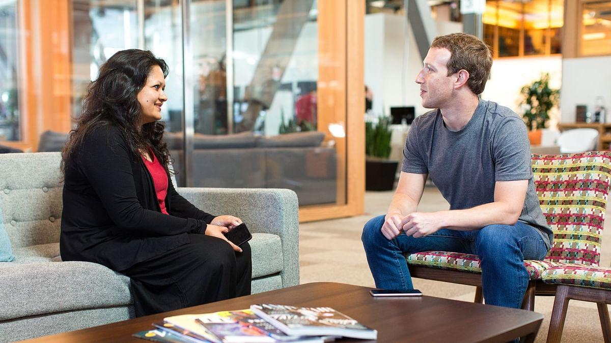 Ankhi Das with Facebook CEO Mark Zuckerberg. (Source: Facebook)
