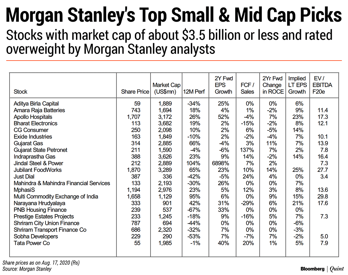 Why Morgan Stanley Sees Small And Mid Caps Staging A Comeback