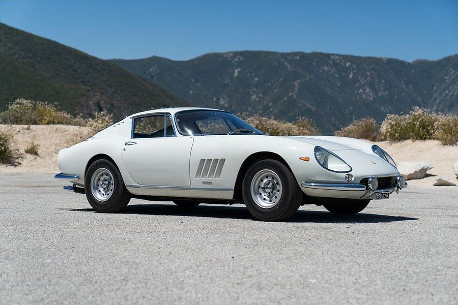 1966 Ferrari 275 GTB in white sand beach. (Photo: Bloomberg/Twitter)