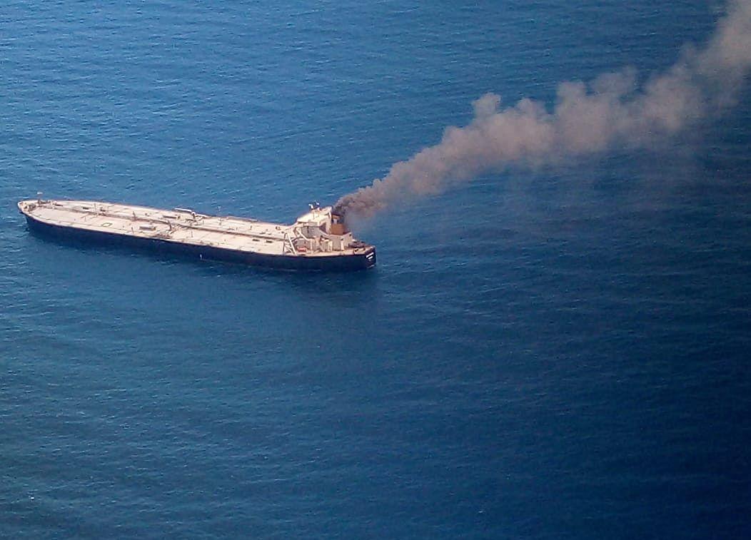 Tanker With 2 Million Barrels Oil Catches Fire Off Sri Lanka