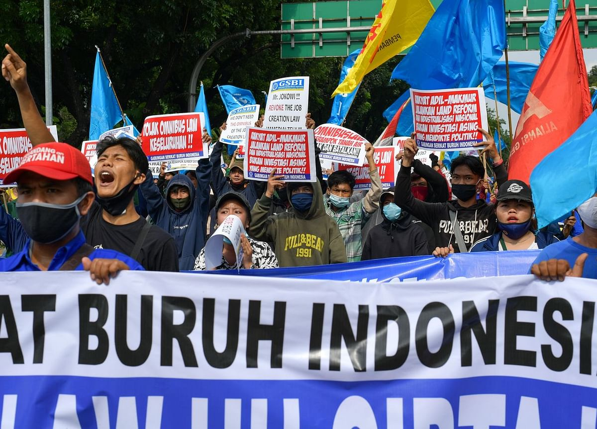 Indonesia Street Protests Reignite Over Disputed Labor Law