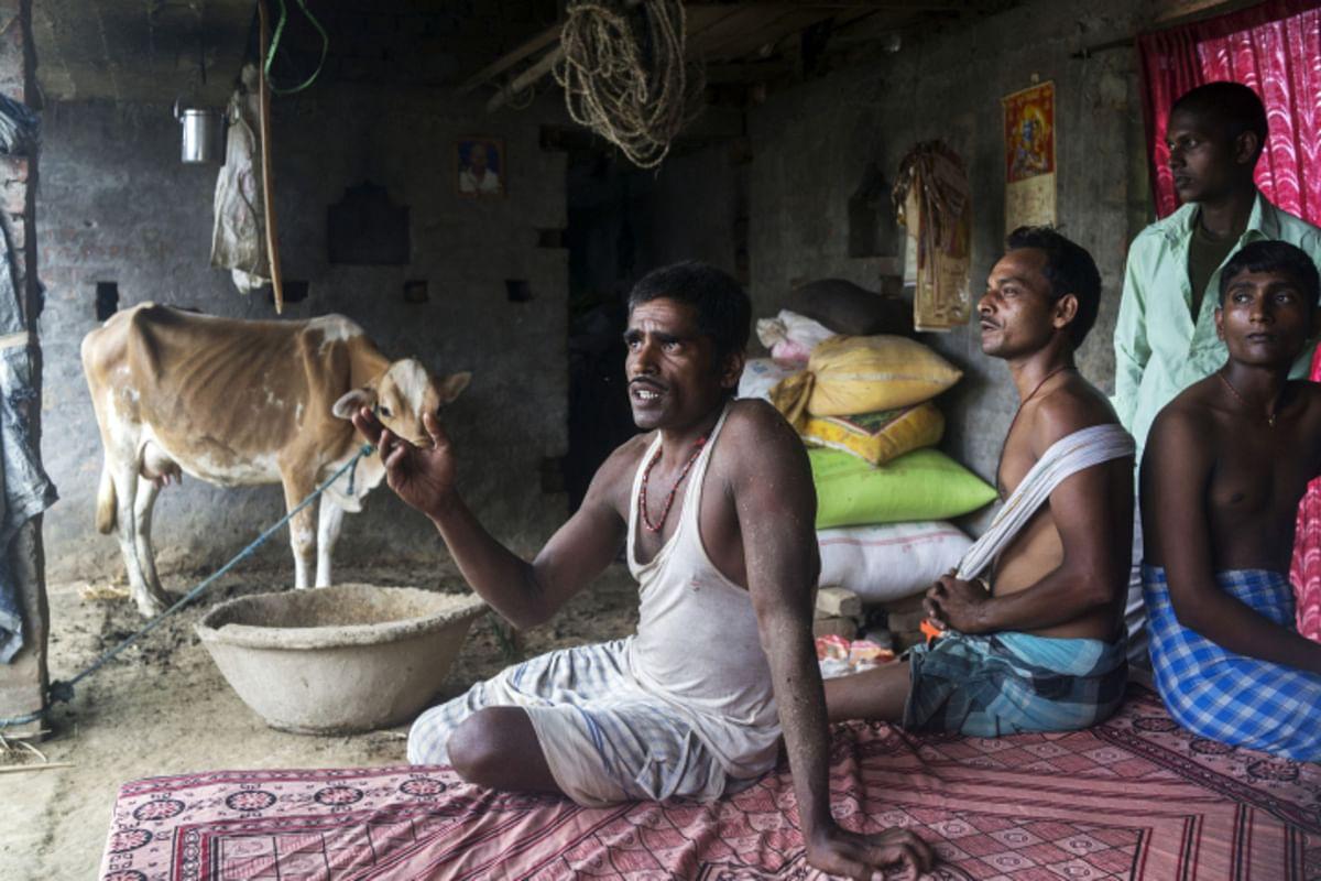 A farmer speaks during an interview at his home in Raghopur, Bihar. (Photographer: Prashanth Vishwanathan/Bloomberg)
