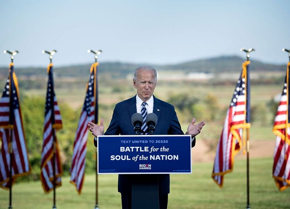 Biden Uses Gettysburg Backdrop to Say He Can Unite the Nation