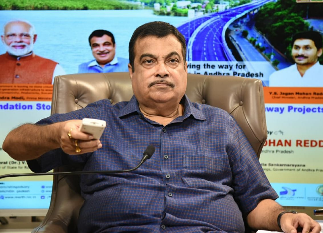 Nitin Gadkari Inaugurates, Lays Foundation Stones Of Rs 15,592-Crore Projects In Andhra Pradesh
