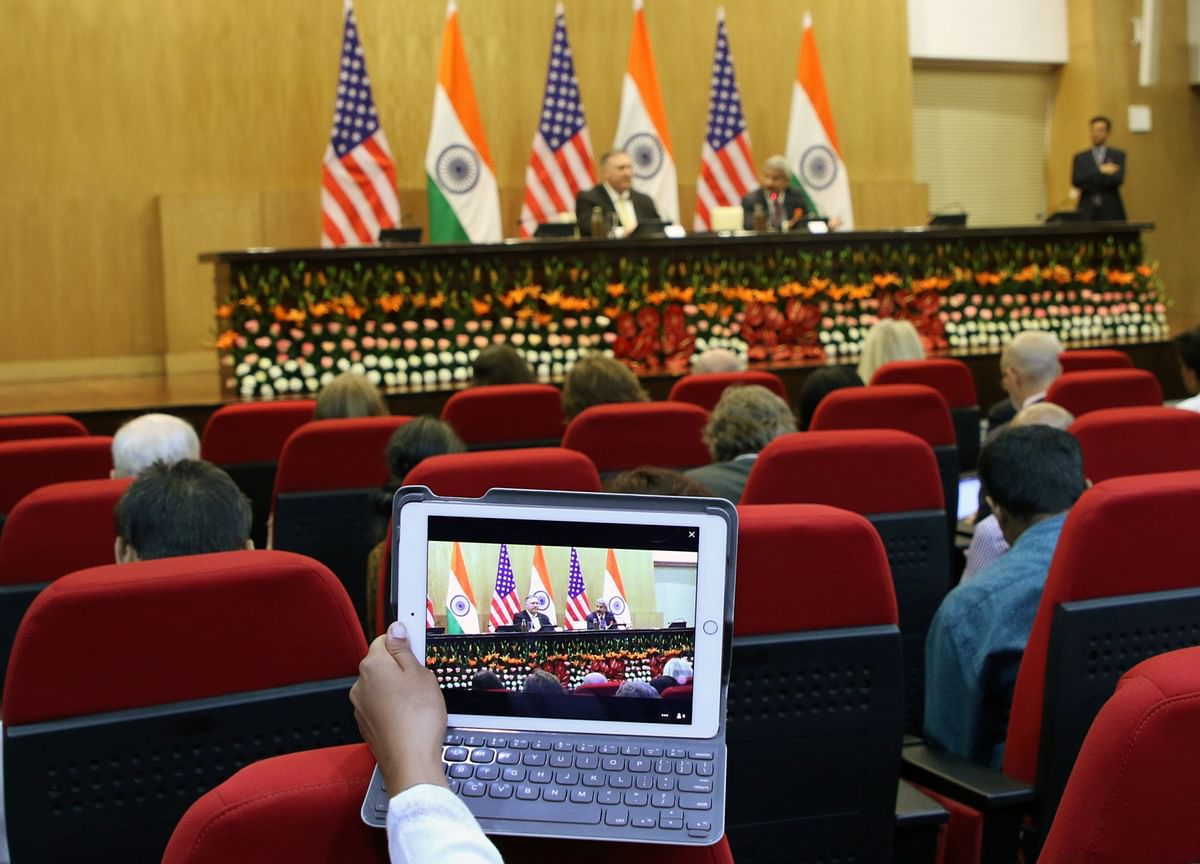 India-U.S. Two-Plus-Two Talks To Be Held On Oct. 27 In New Delhi