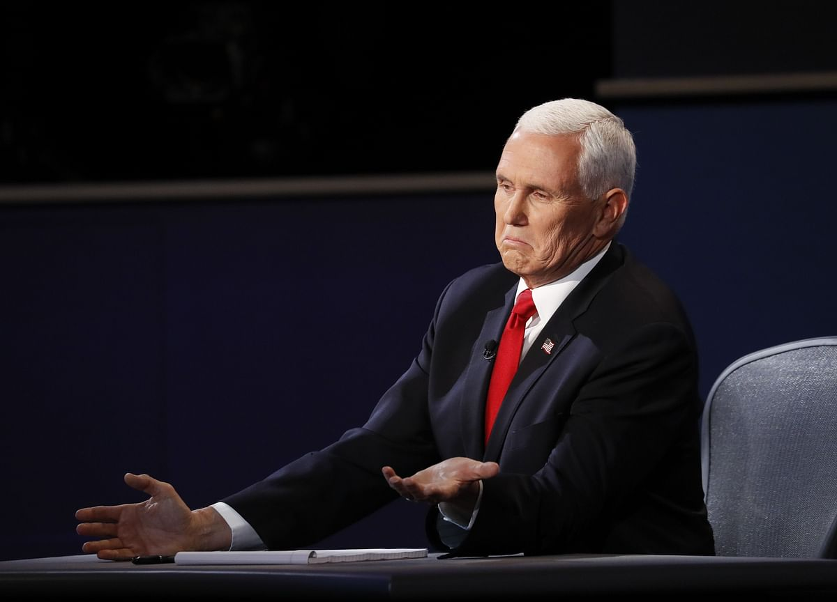 Pence Is Steady in Debate But Fails to Knock Harris Off Course