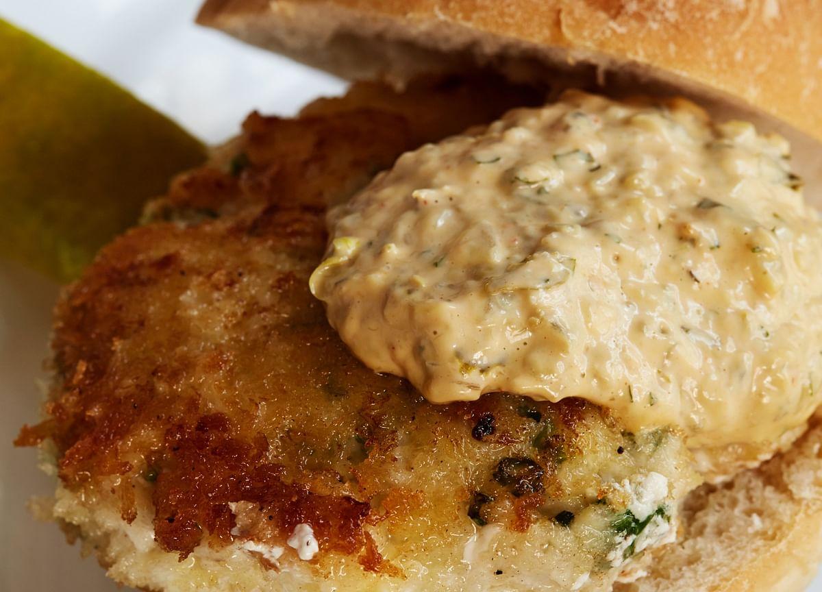 Chef Mark Hix's Fish House Burger Puts Prawns in a Bun