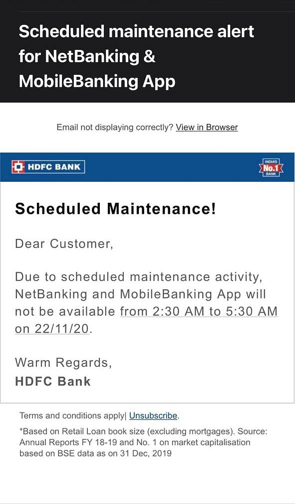 HDFC Bank Faces Technical Glitches Owing To Outage At Data Centre
