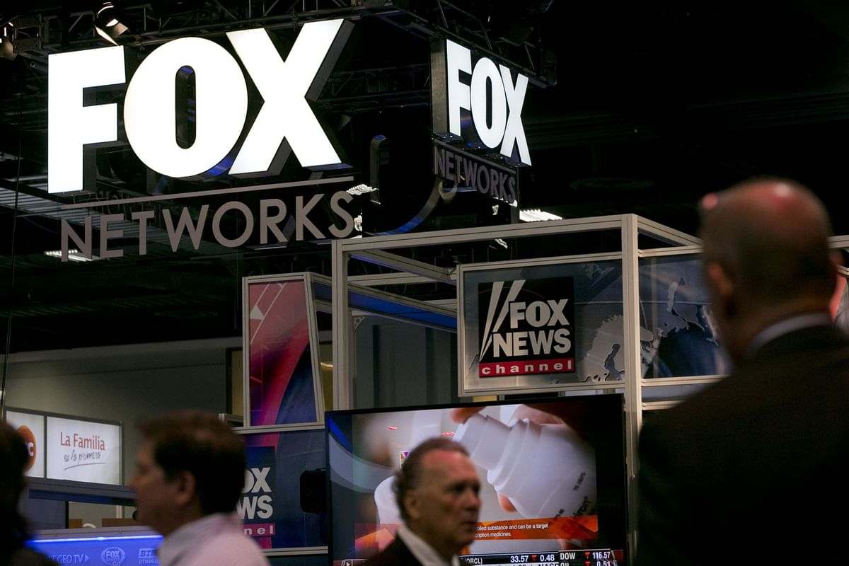 The Fox Networks booth at a trade fair in Washington, D.C. (Photographer: Andrew Harrer/Bloomberg)