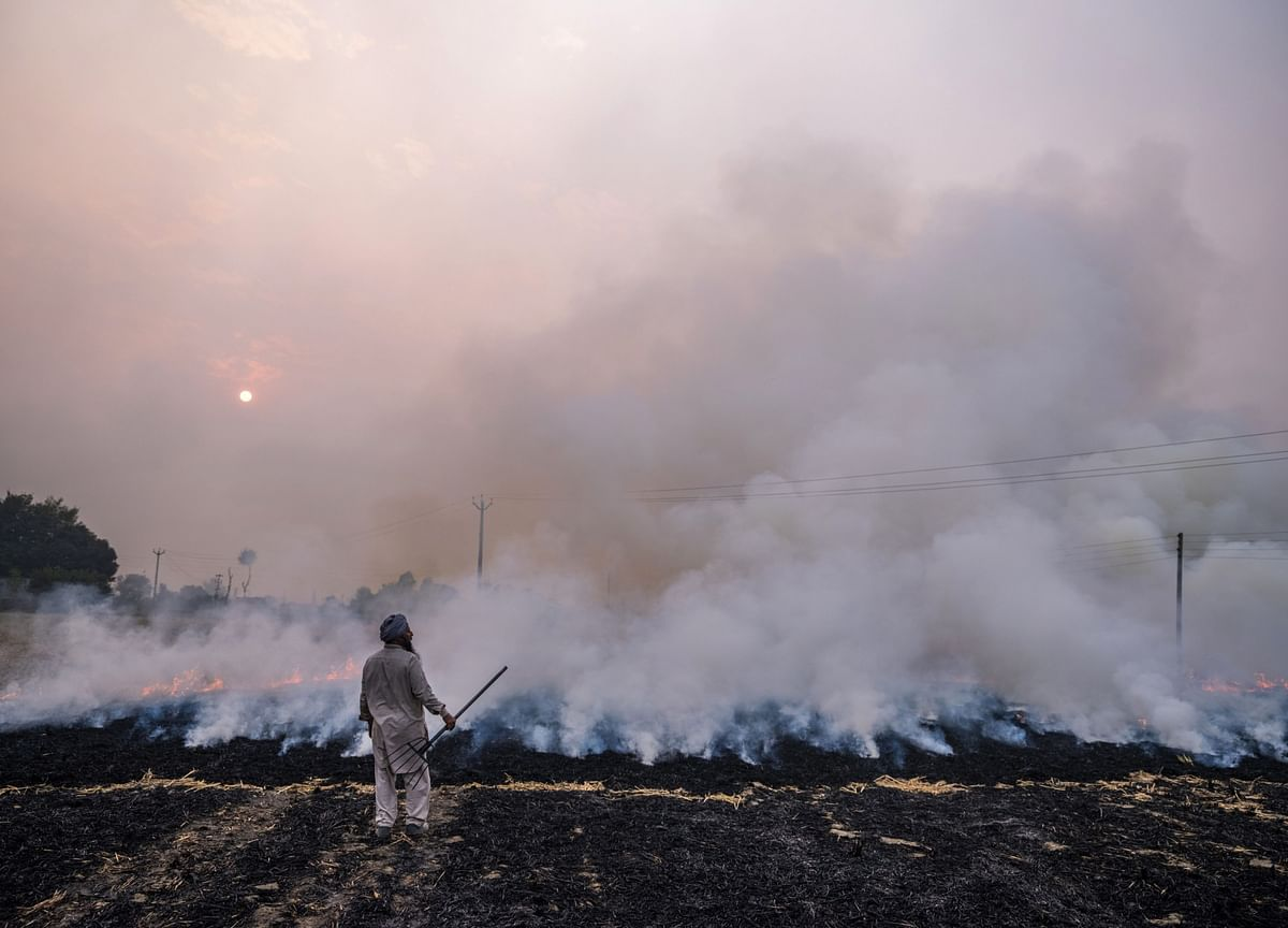 Toxic Air From Fires Is Set to Make India's Covid Fight Deadlier