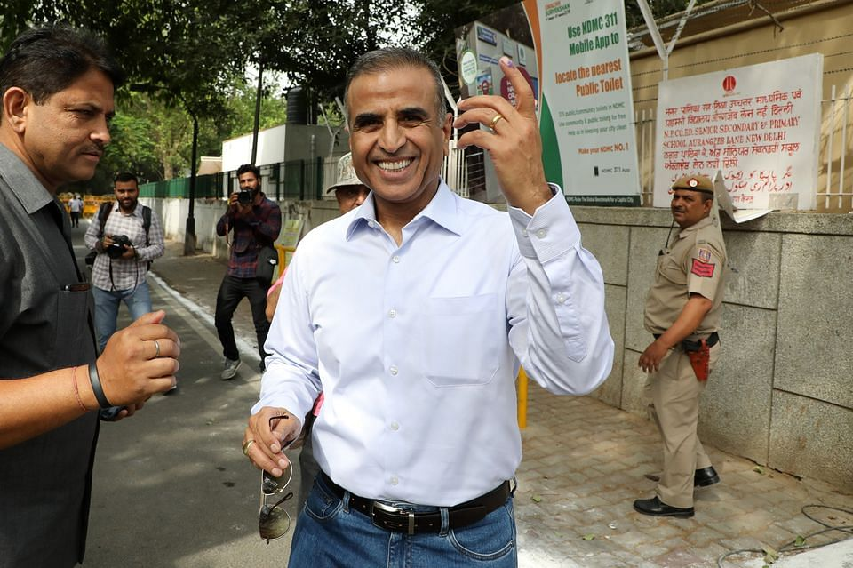 Sunil Mittal after voting, 2019. (Photo: T. Narayan/Bloomberg)
