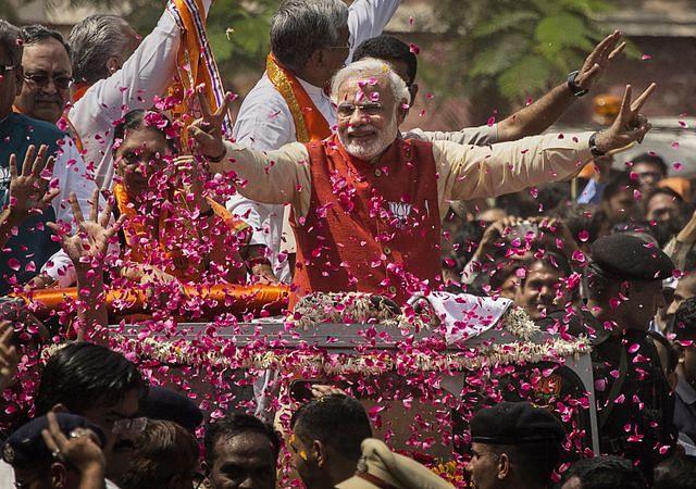 Narendra Modi, 2014. (Photo: Kevin Frayer/Getty Images)