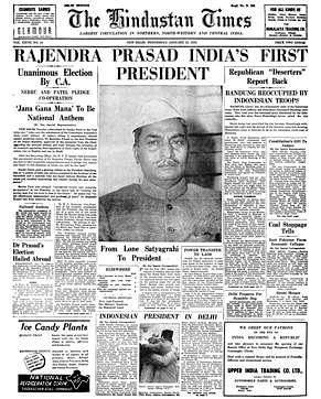 (Photo Courtesy: <i>Hindustan Times</i> archive from 25 January 1950)&nbsp;