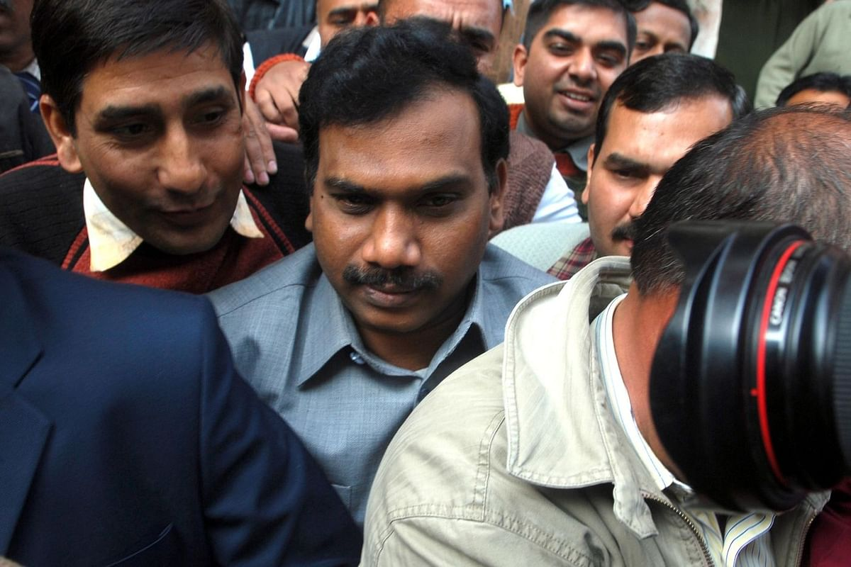 A. Raja, India's former telecom minister, after arrest in corruption probe for 2008 sale of 2G telecom licenses, 2011. (Photo: Parveen Negi/The India Today Group via Getty Images)