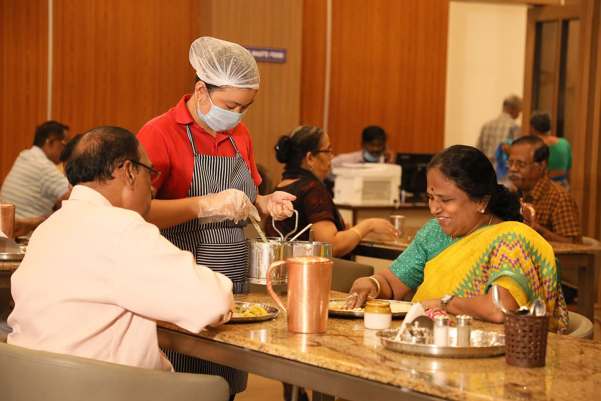 Communal dining facility at Ashiana Housing senior living projects  (Source: Ashiana Housing)