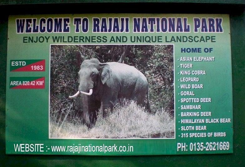 A signboard for the Rajaji National Park. (Photo: Uttarakhand Tourism Development Board website)