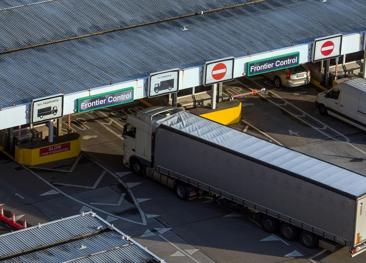 Brexit Border Chaos Prompts Warning Truckers Will Ditch U.K.